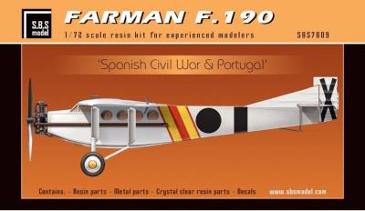 Farman F.190 'Spanish Civil War & Portugal' készlet